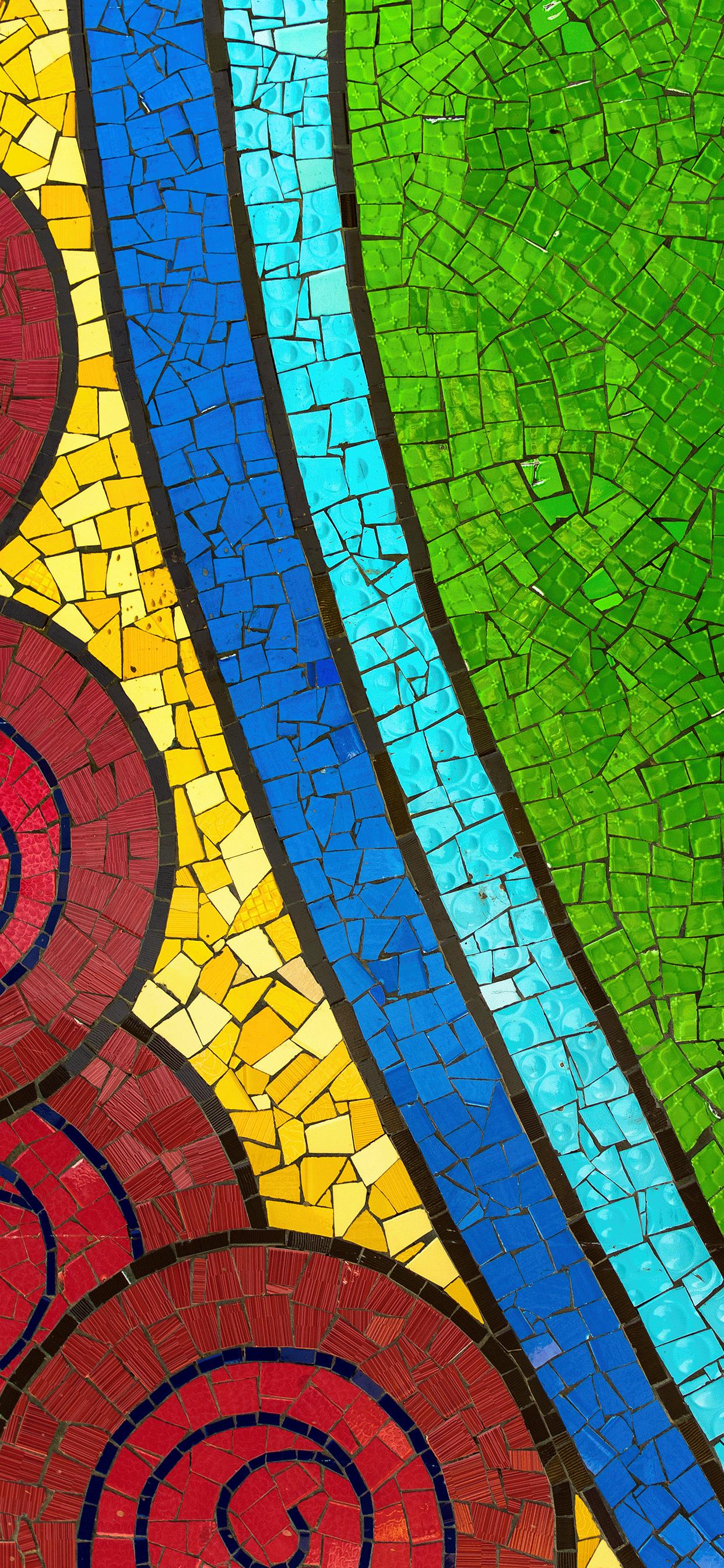 iPhone wallpaper mosaic colors Mosaic