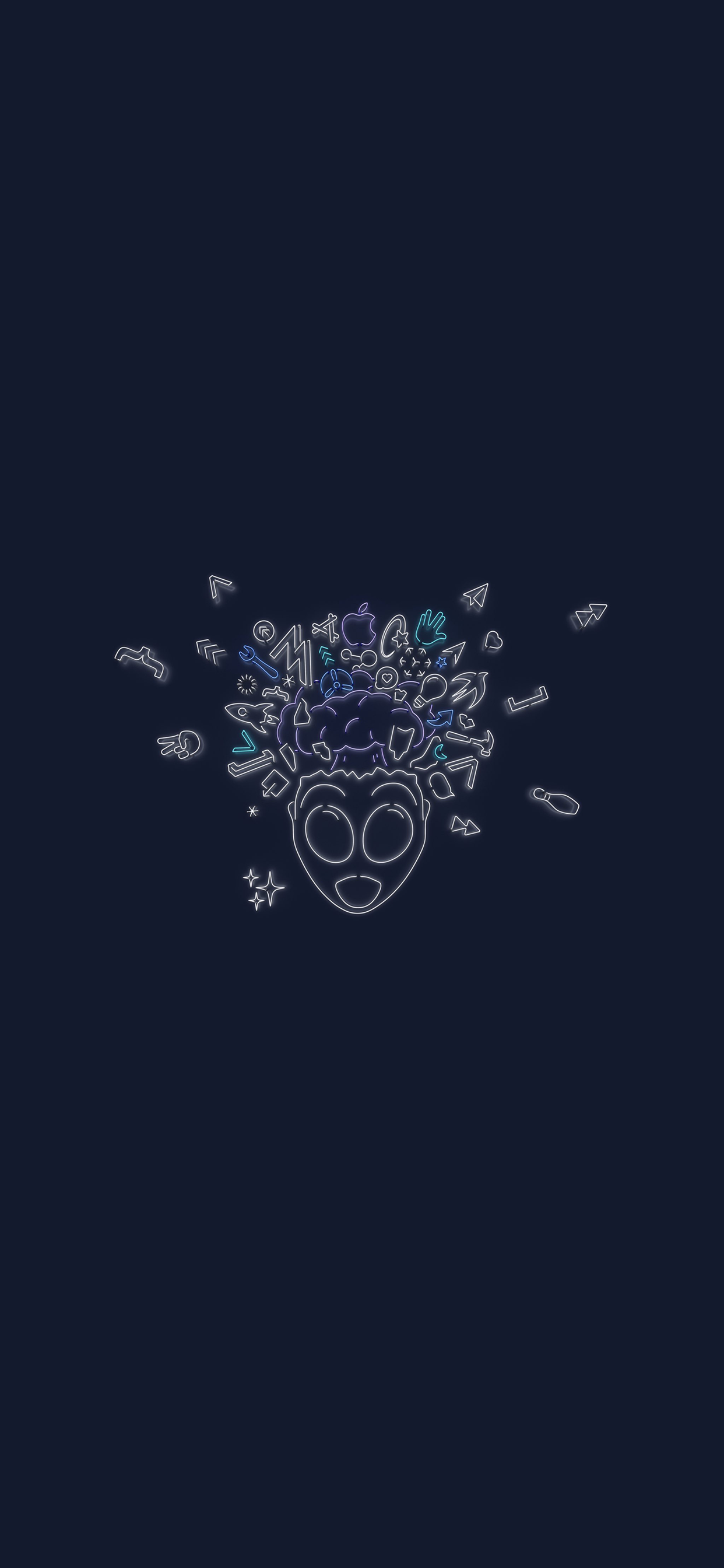 iPhone wallpaper Apple WWDC 2019 alien Apple WWDC 2019