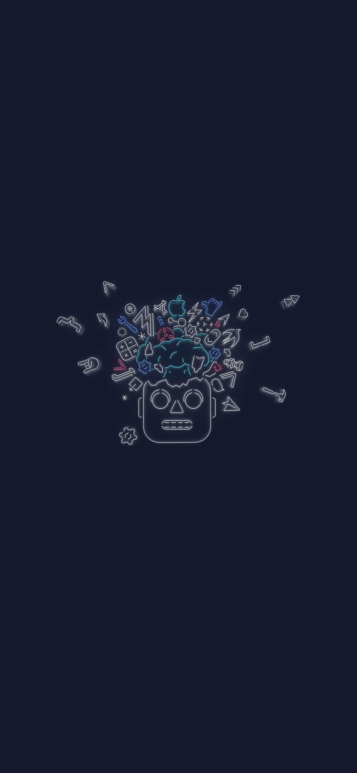 iPhone wallpaper Apple WWDC 2019 robot Fonds d'écran iPhone du 15/03/2019