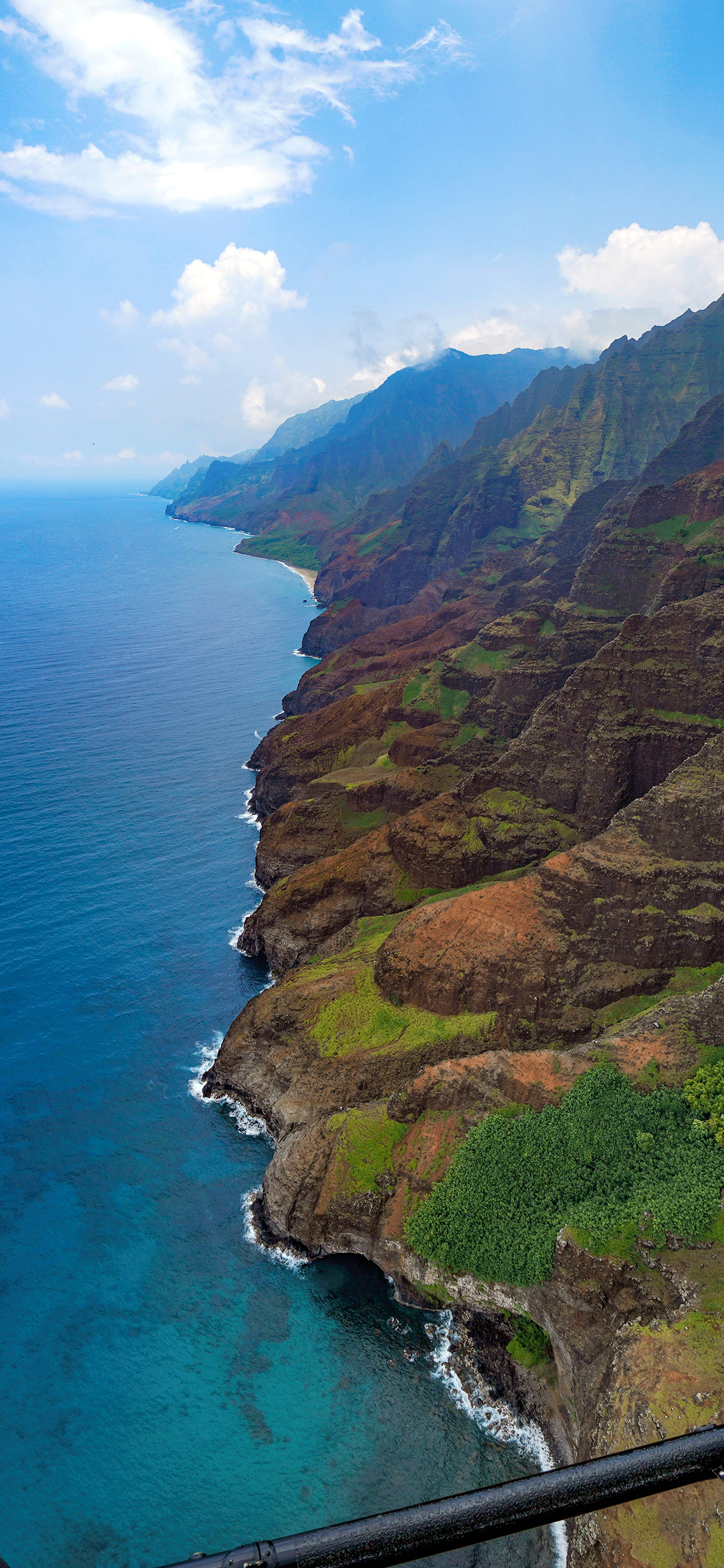 iPhone wallpaper Nā Pali Coast helicopter Nā Pali Coast