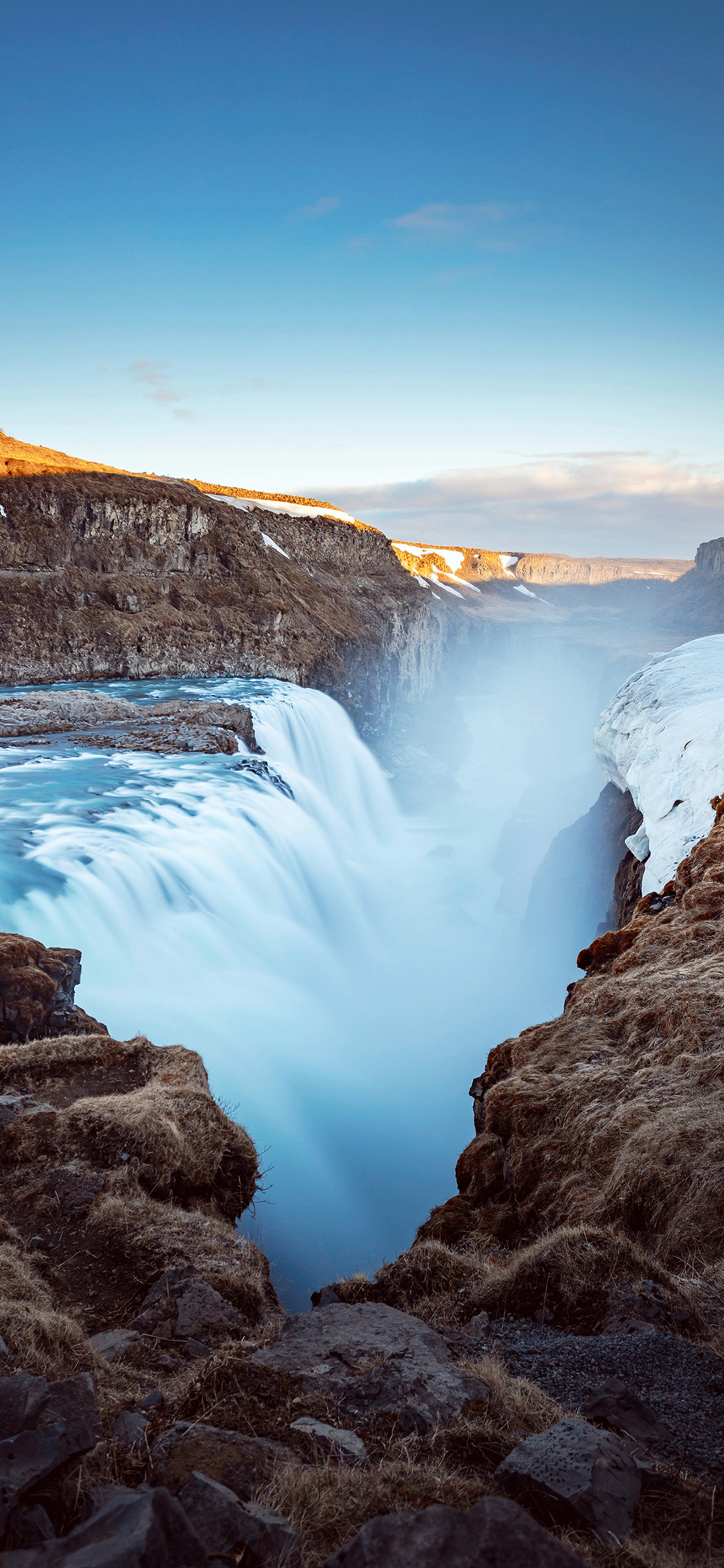 iPhone wallpaper iceland gullfoss falls Iceland