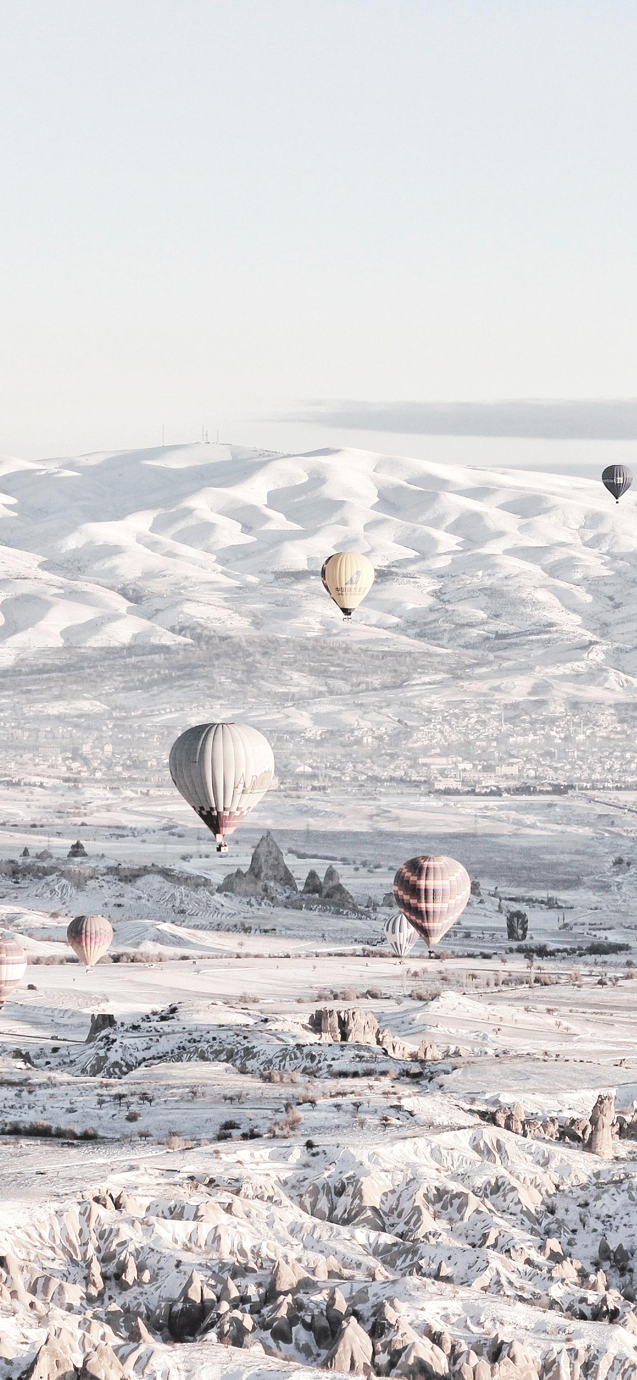 iPhone wallpaper turkey snow mountains Fonds d'écran iPhone du 04/03/2019