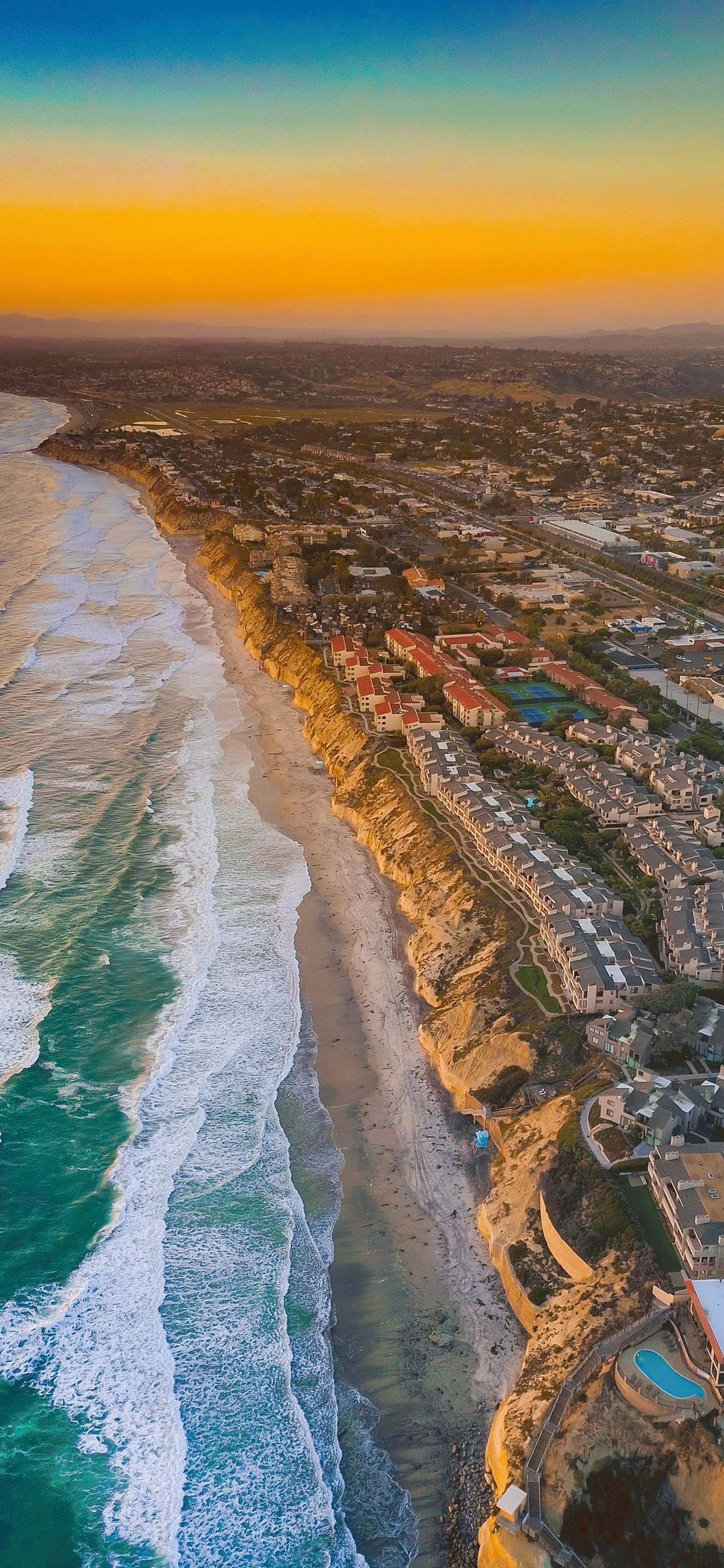 iPhone wallpaper aerial images san diego Fonds d'écran iPhone du 01/04/2019