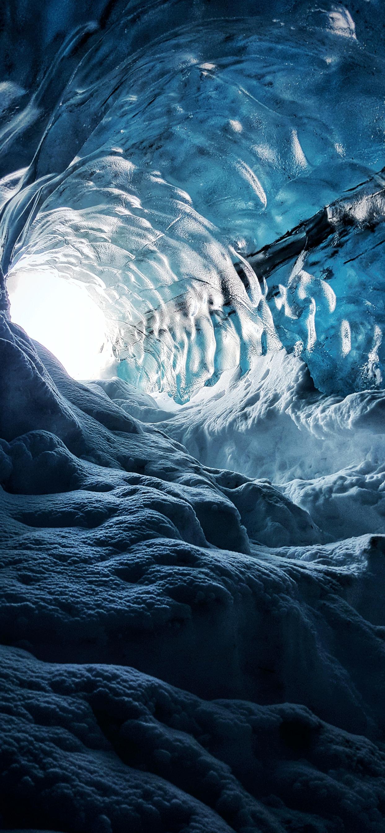 iPhone wallpapers cave ice Fonds d'écran iPhone du 22/05/2019