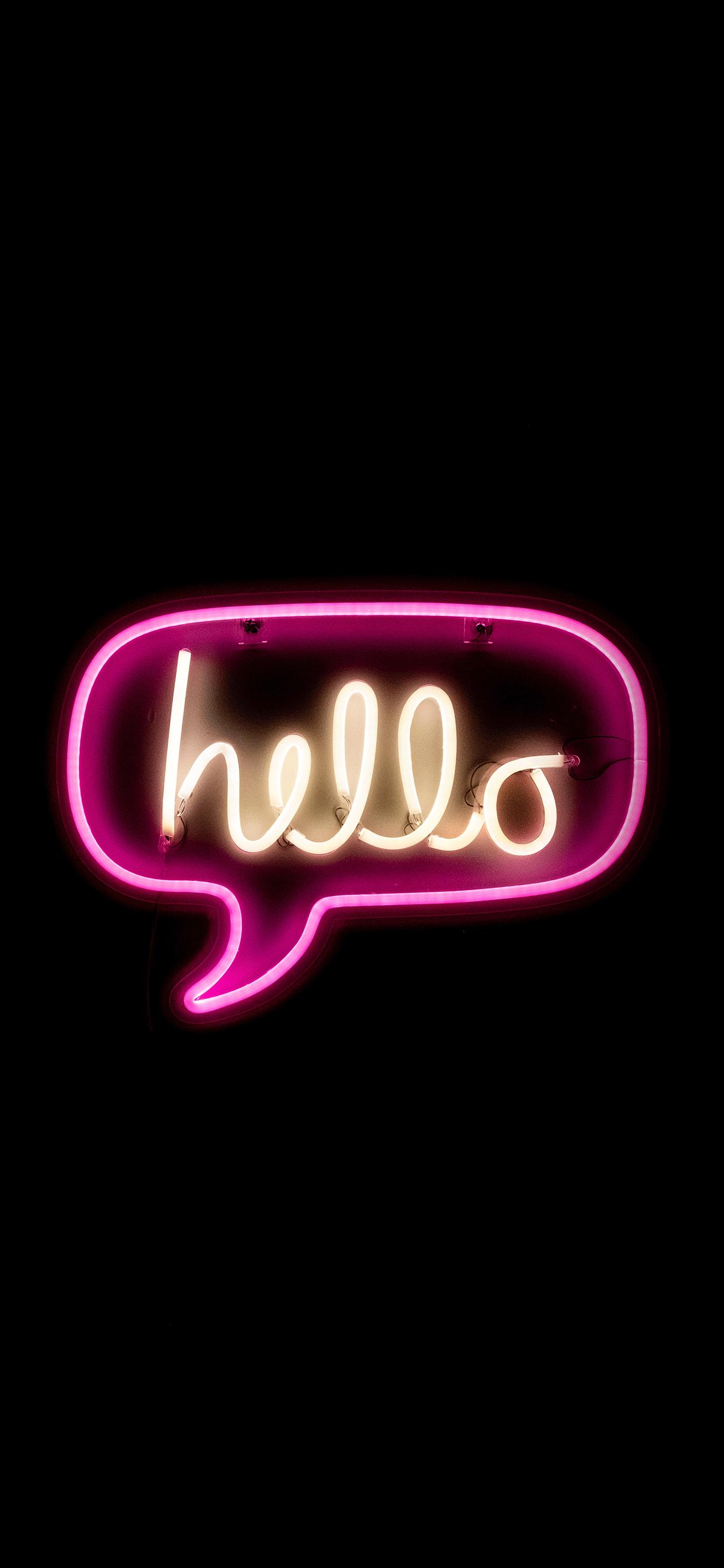 iPhone wallpapers neon hello Neon sign