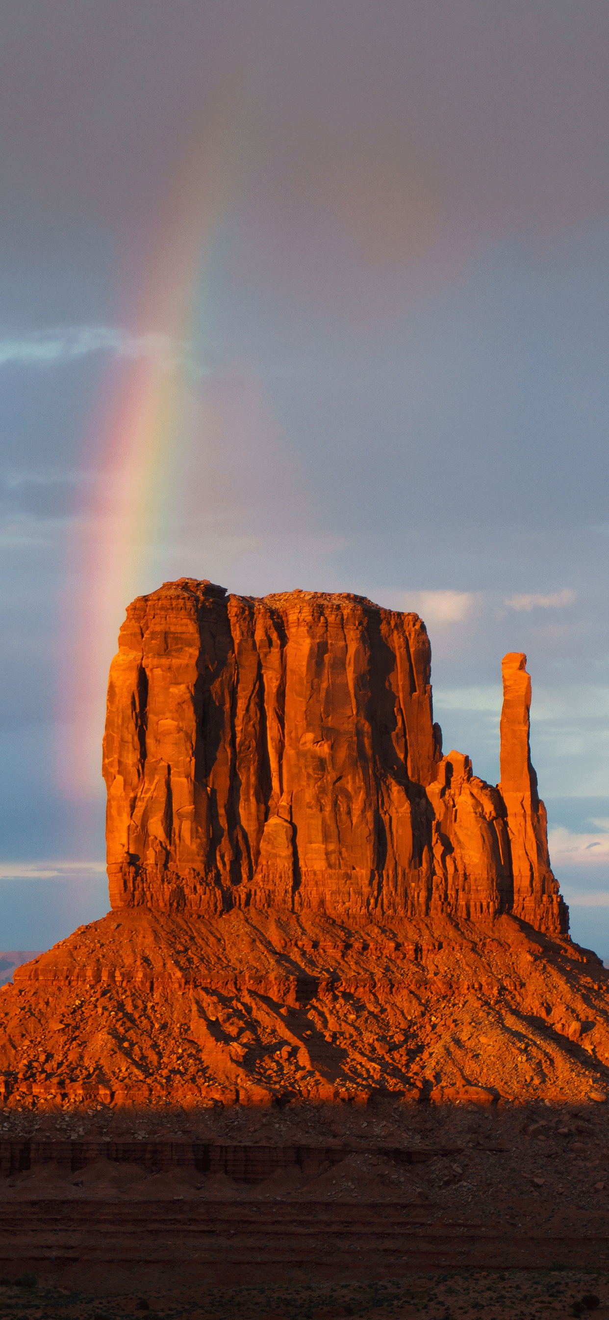 iPhone wallpapers rainbow monument valley Rainbow