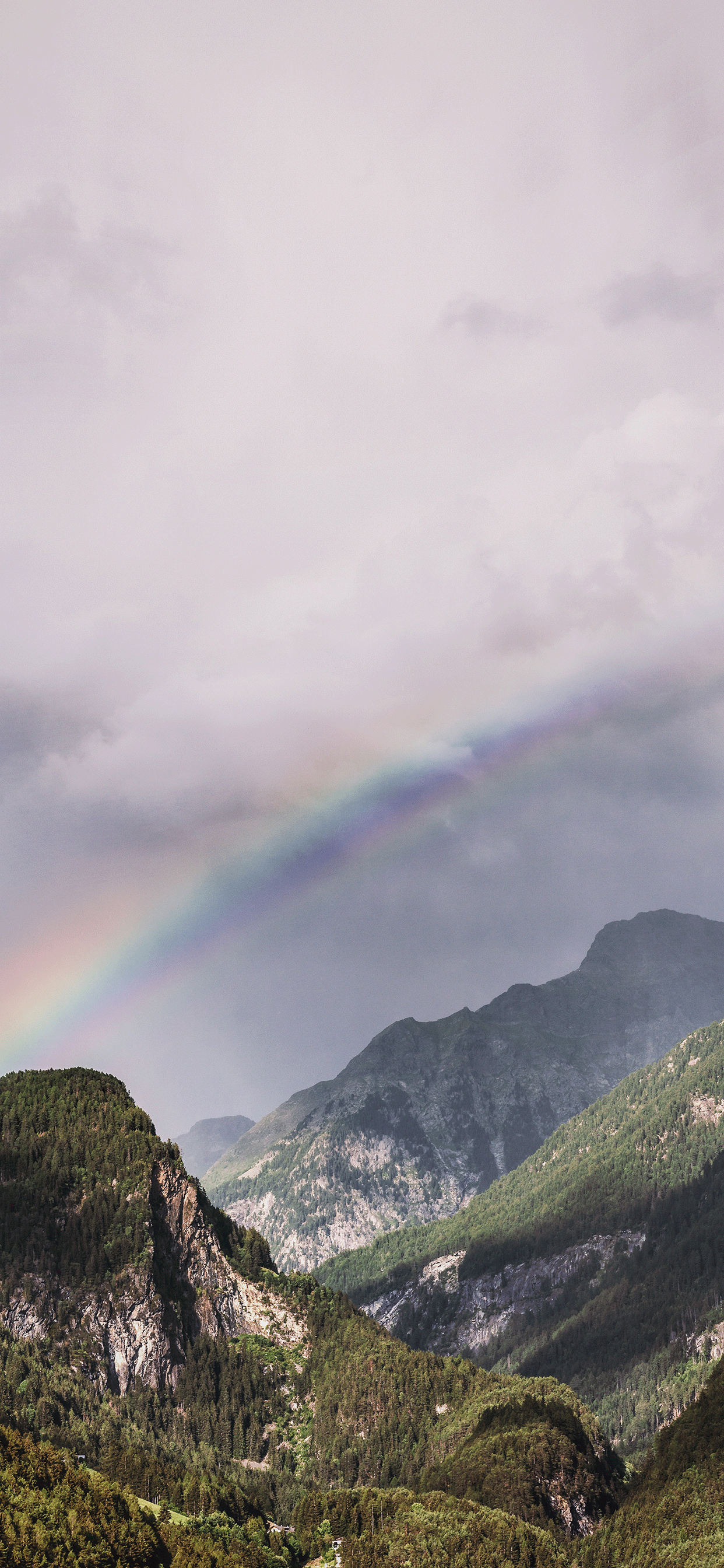 iPhone wallpapers rainbow rieserferner mountain chain Rainbow