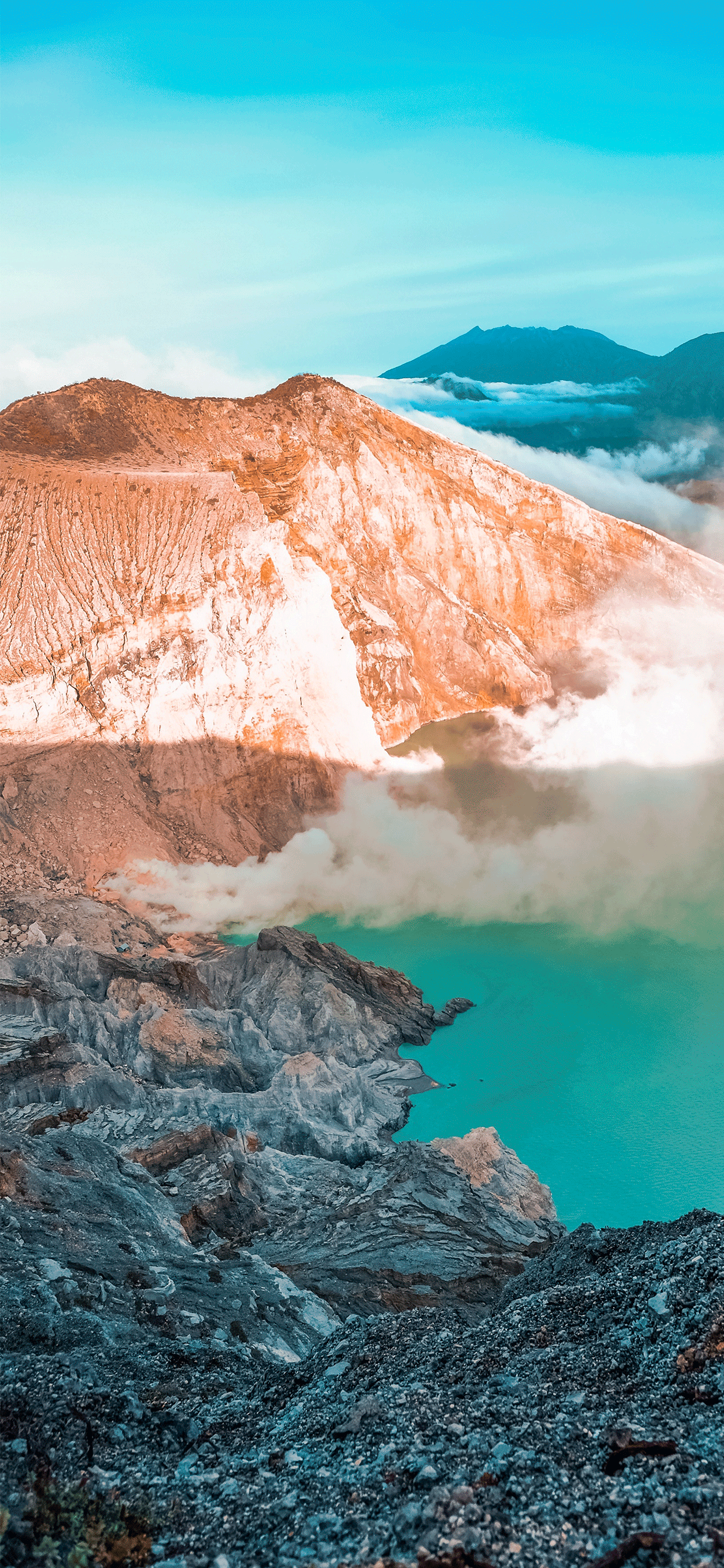 iPhone wallpapers volcano ijen crater Fonds d'écran iPhone du 15/05/2019