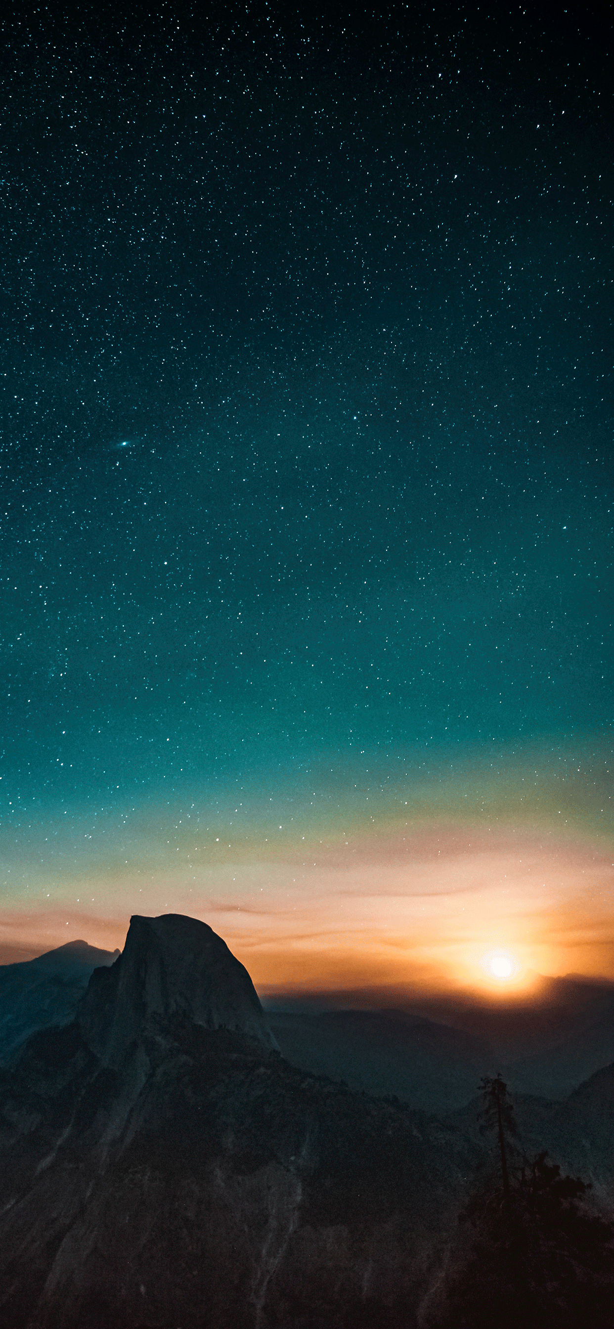 iPhone wallpapers stars yosemite valley Stars