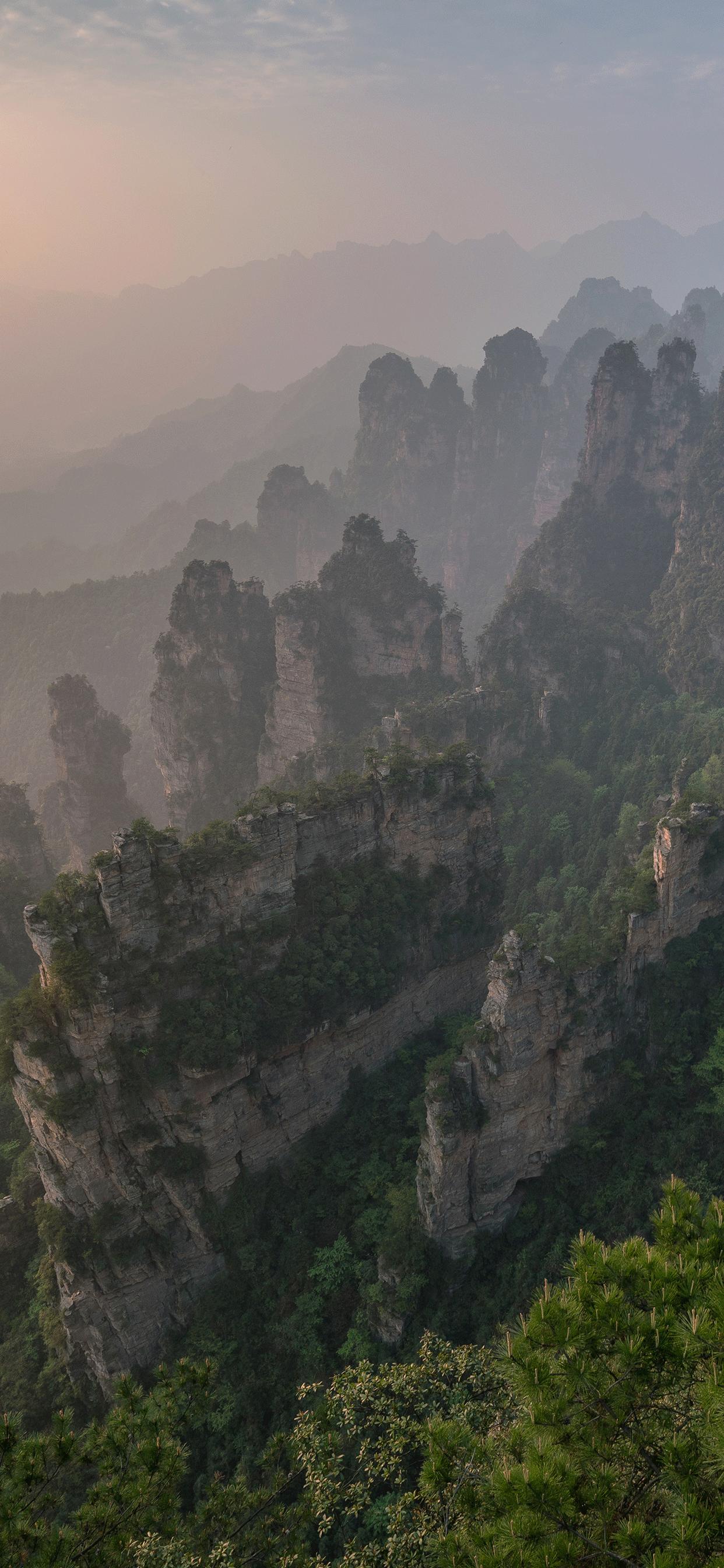 iPhone wallpapers zhangjiajie national park 2 ZhangJiaJie National Park
