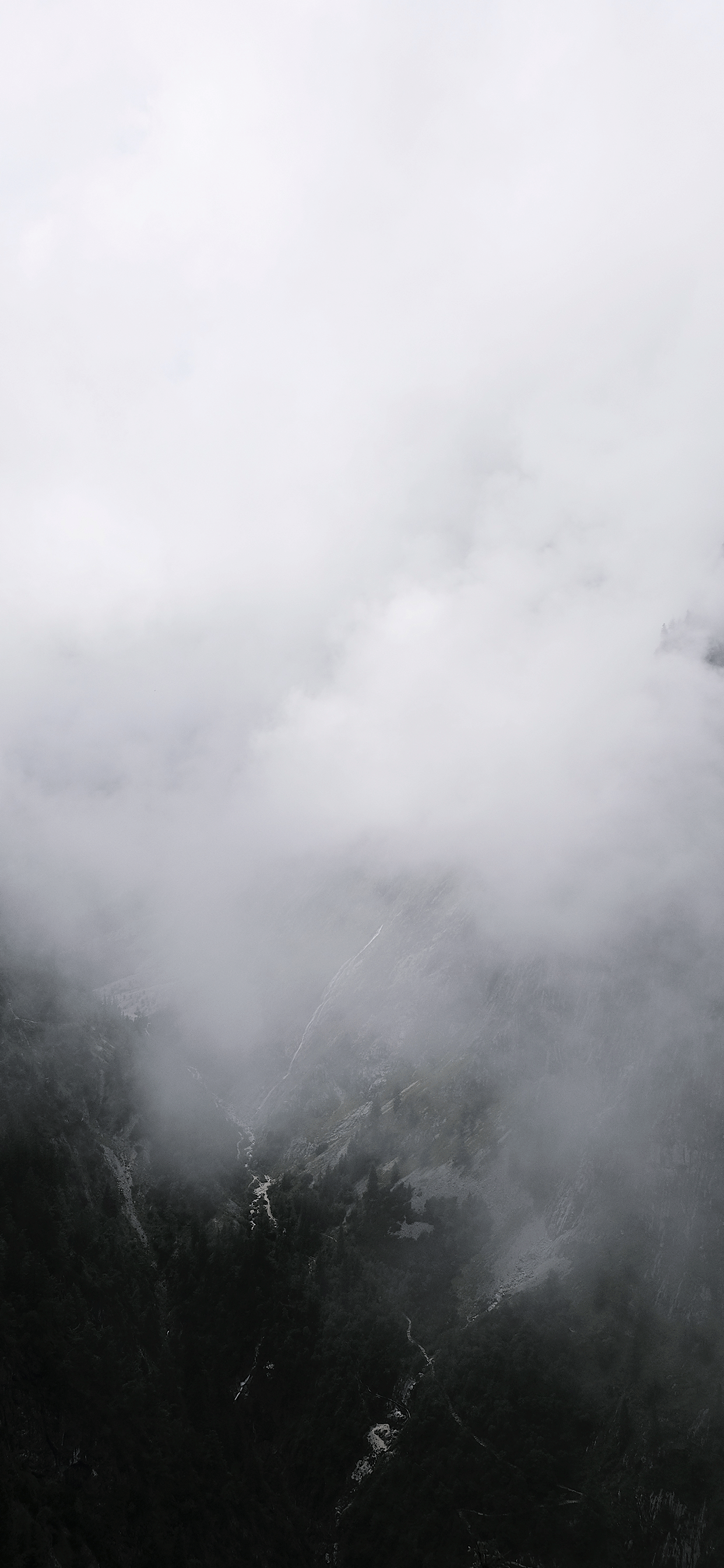 iPhone wallpapers zugspitze fog Fonds d'écran iPhone du 03/07/2019