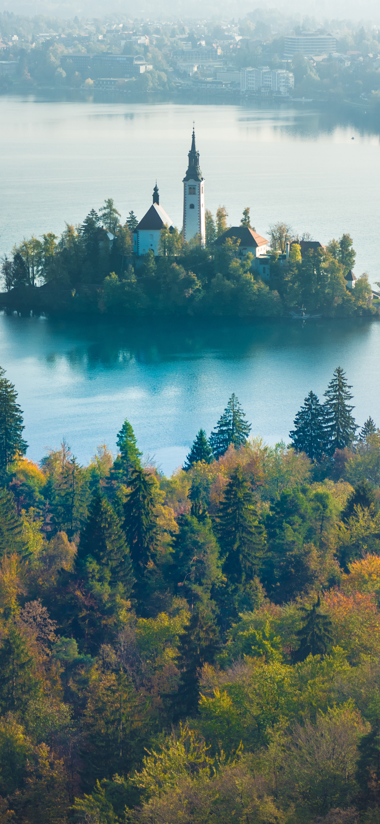 iPhone wallpapers lake bled trees Lake Bled