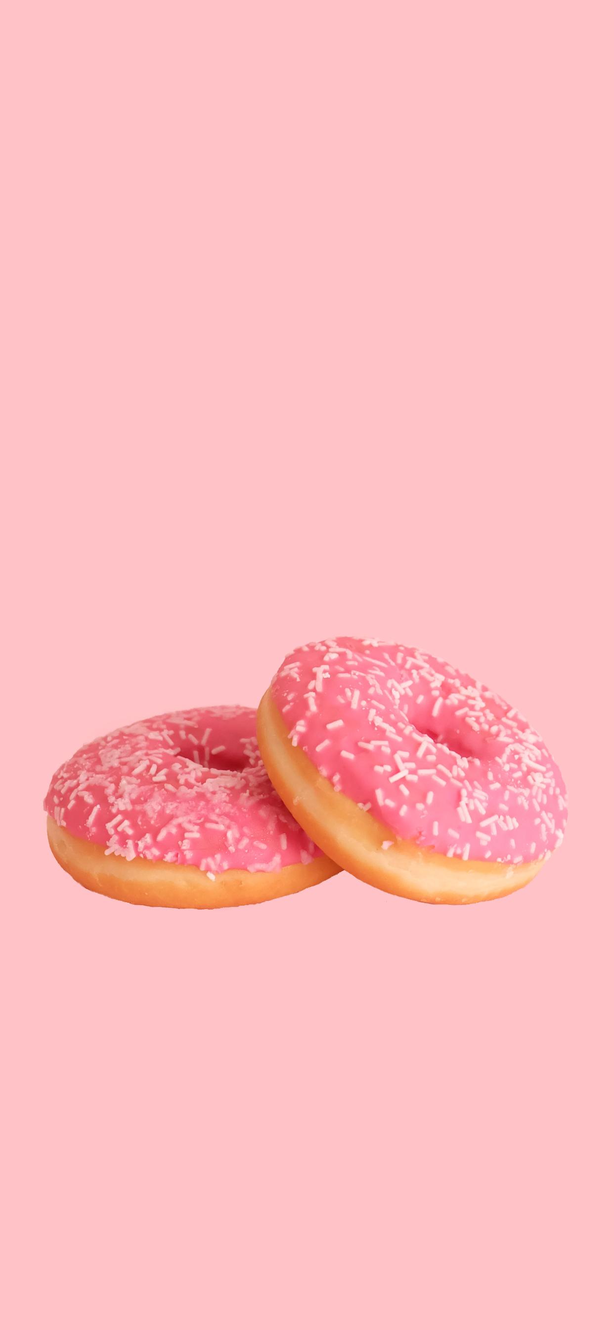 iPhone wallpapers colors pink donuts Fonds d'écran iPhone du 17/09/2019