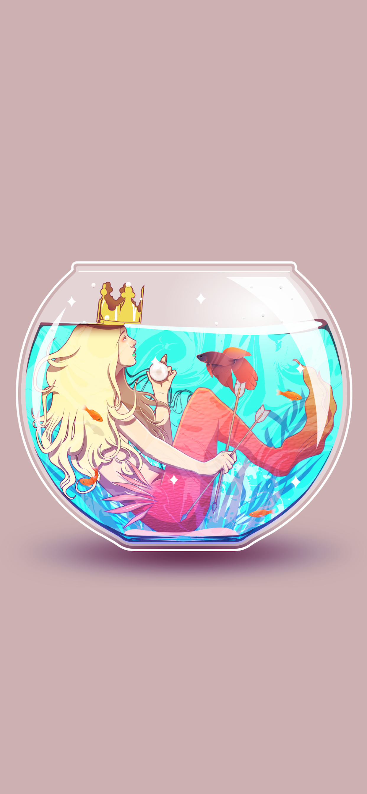 iPhone wallpapers illustration fishbowl Illustrations
