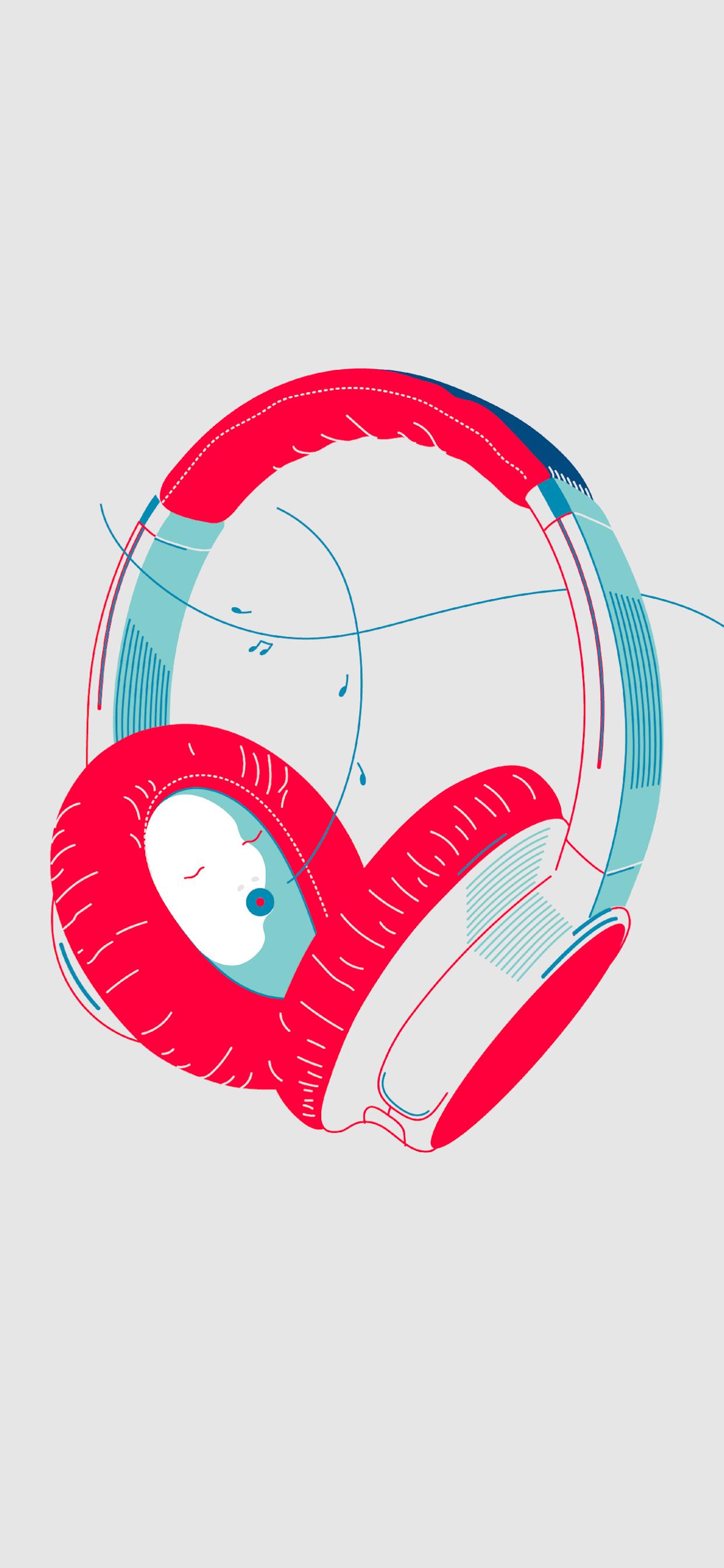 iPhone wallpapers illustration headphones Fonds d'écran iPhone du 02/10/2019