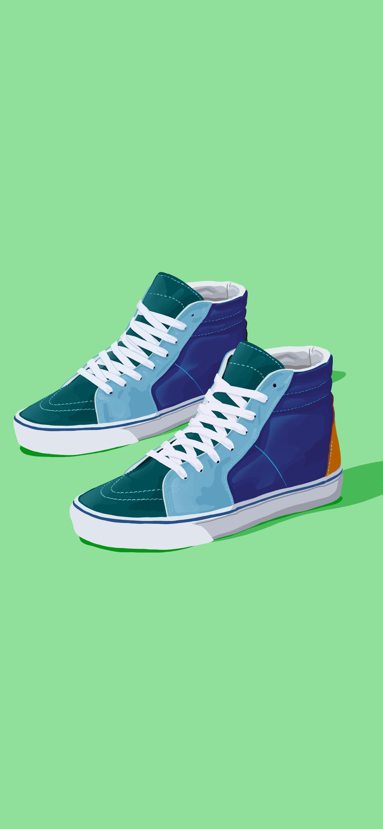 iPhone wallpapers illustration sneakers Fonds d'écran iPhone du 02/10/2019