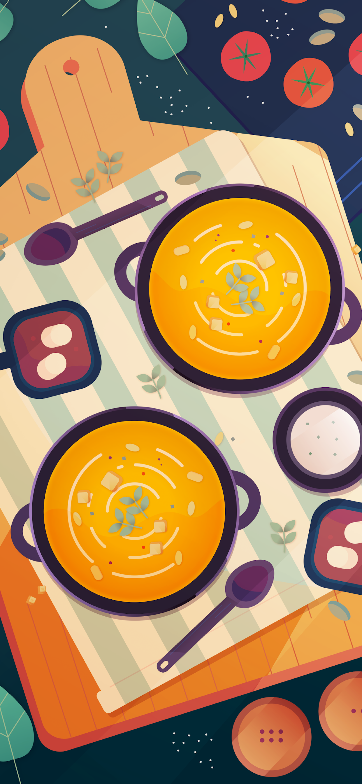 iPhone wallpapers illustration soup bread Fonds d'écran iPhone du 21/10/2019