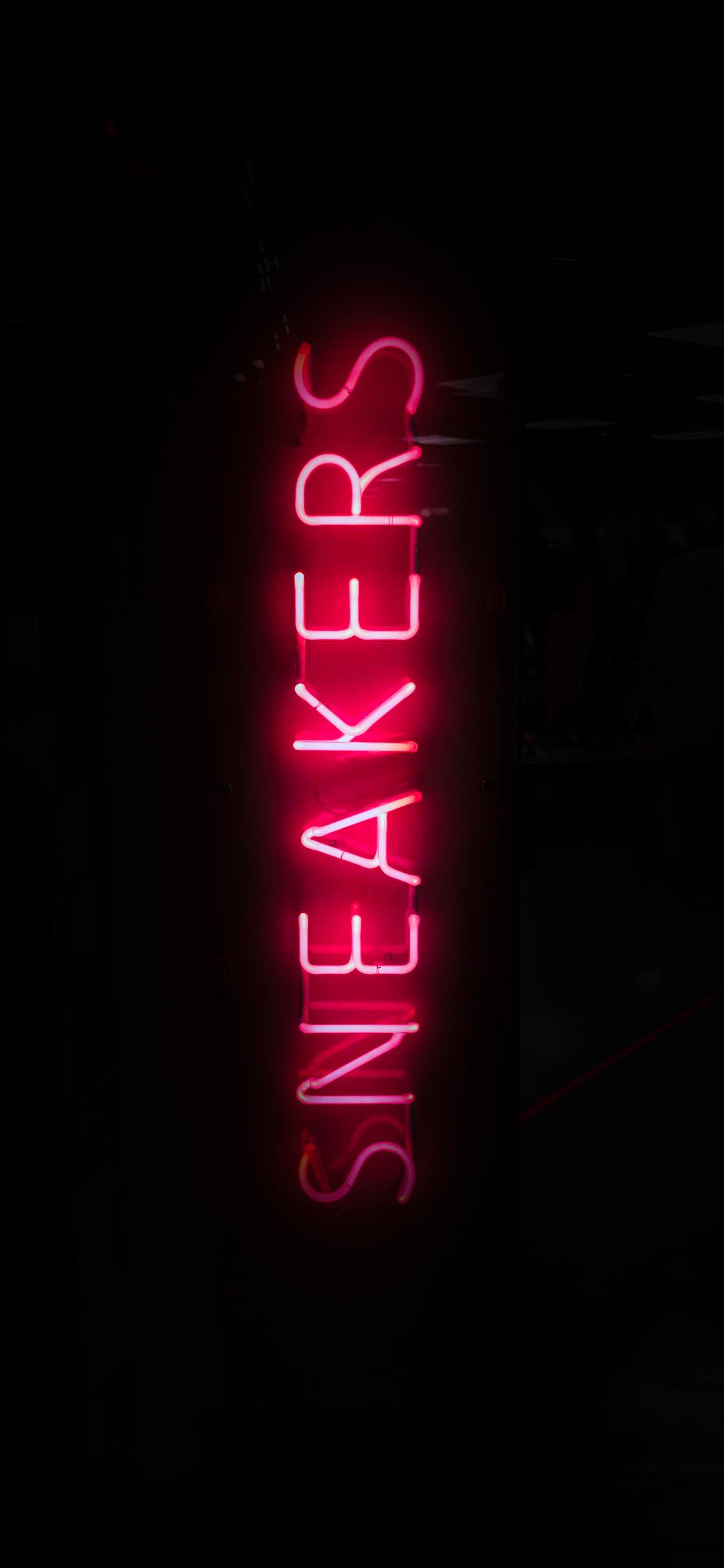 iPhone wallpapers neon sign sneakers Fonds d'écran iPhone du 03/10/2019