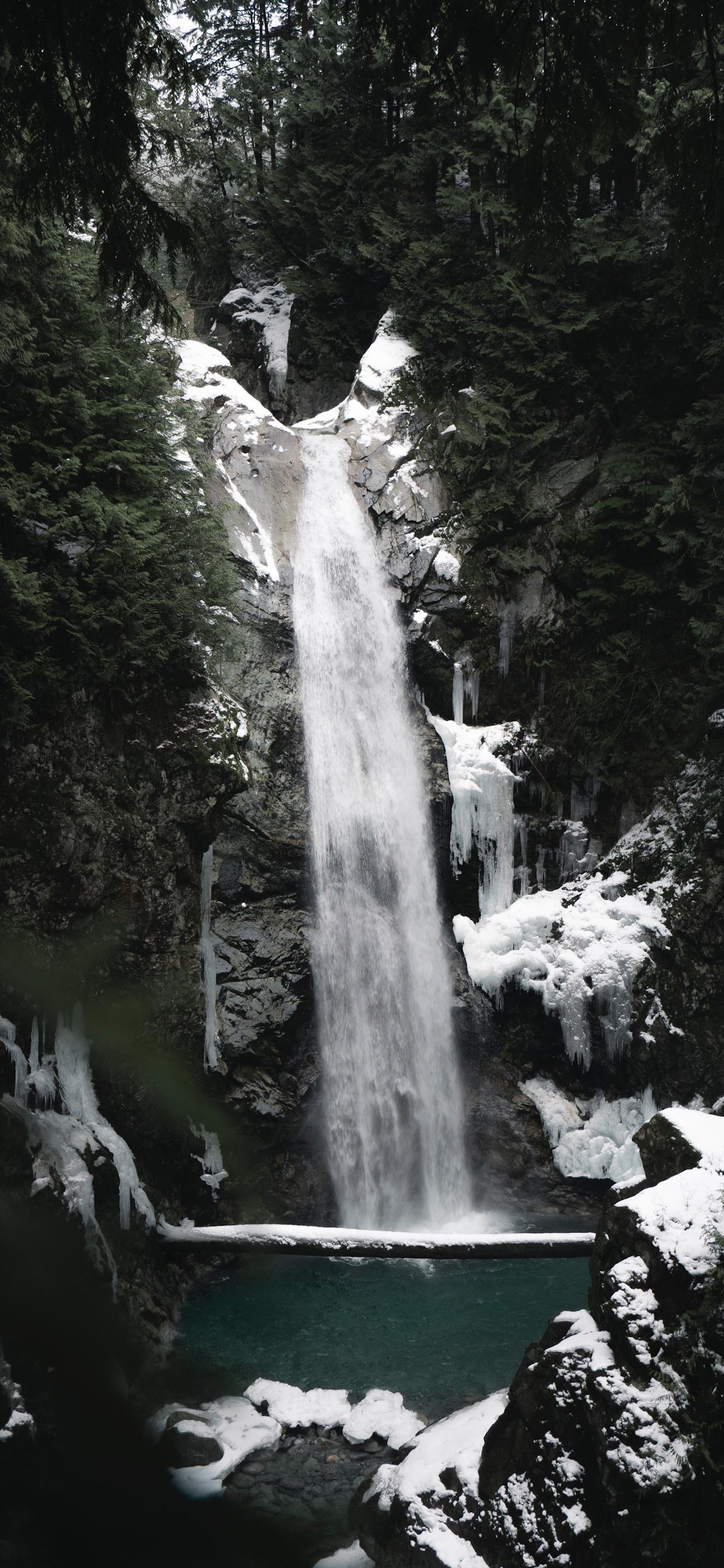 iPhone wallpapers waterfall ice lake Waterfalls