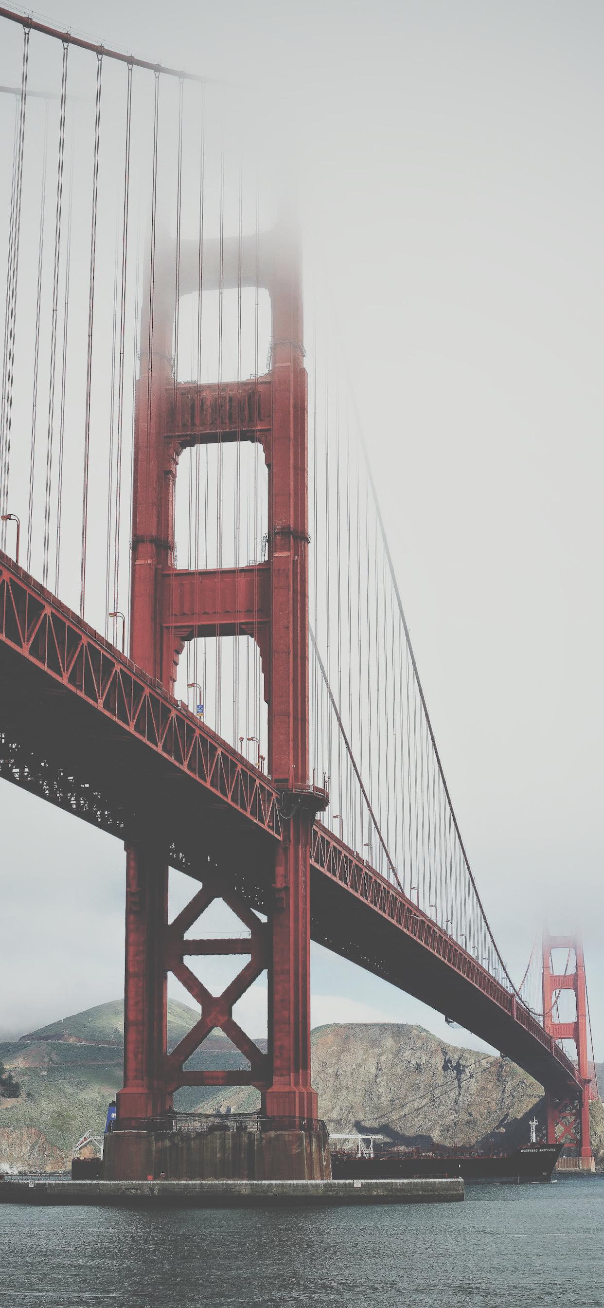 iPhone wallpapers golden gate fog Golden Gate