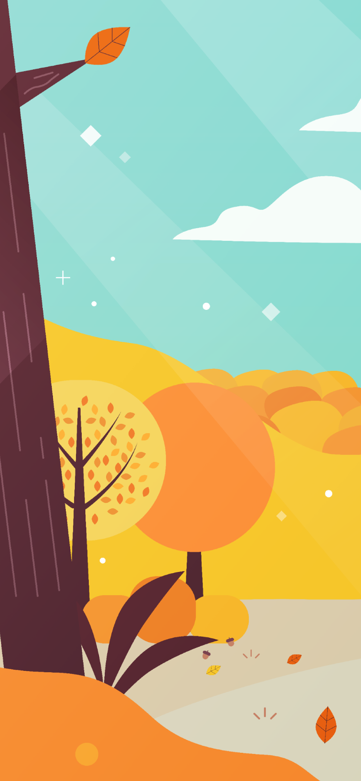 iPhone wallpapers illustration autumn landscape Fonds d'écran iPhone du 26/11/2019