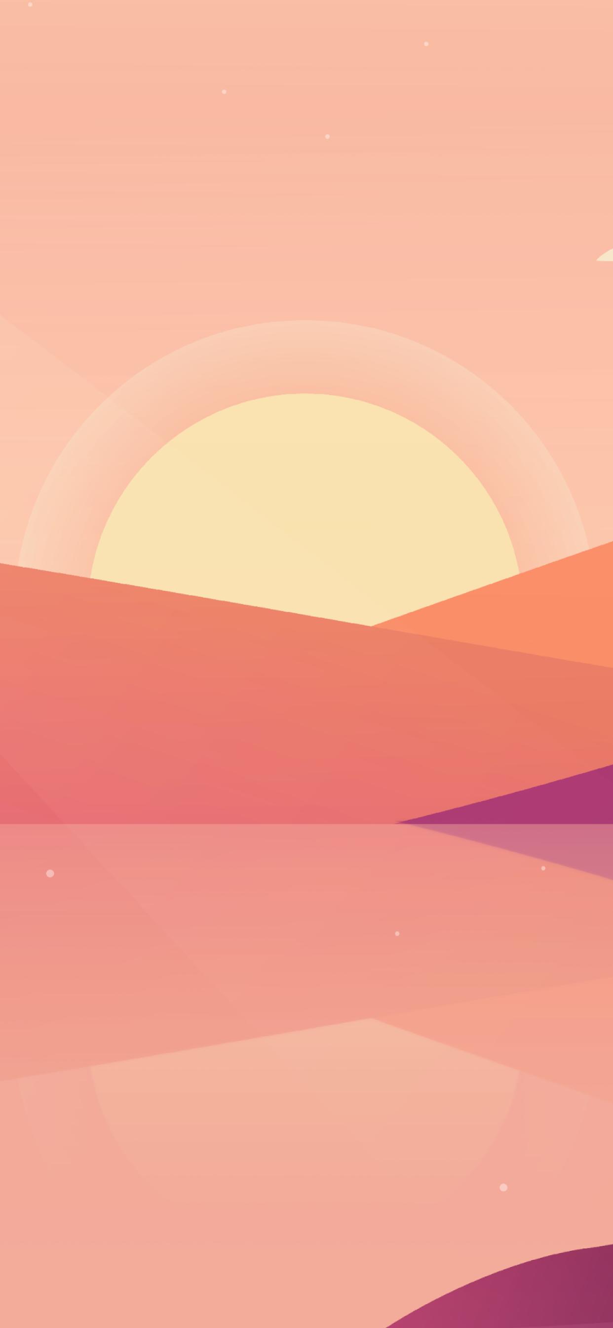 iPhone wallpapers illustration sunset hills Illustration