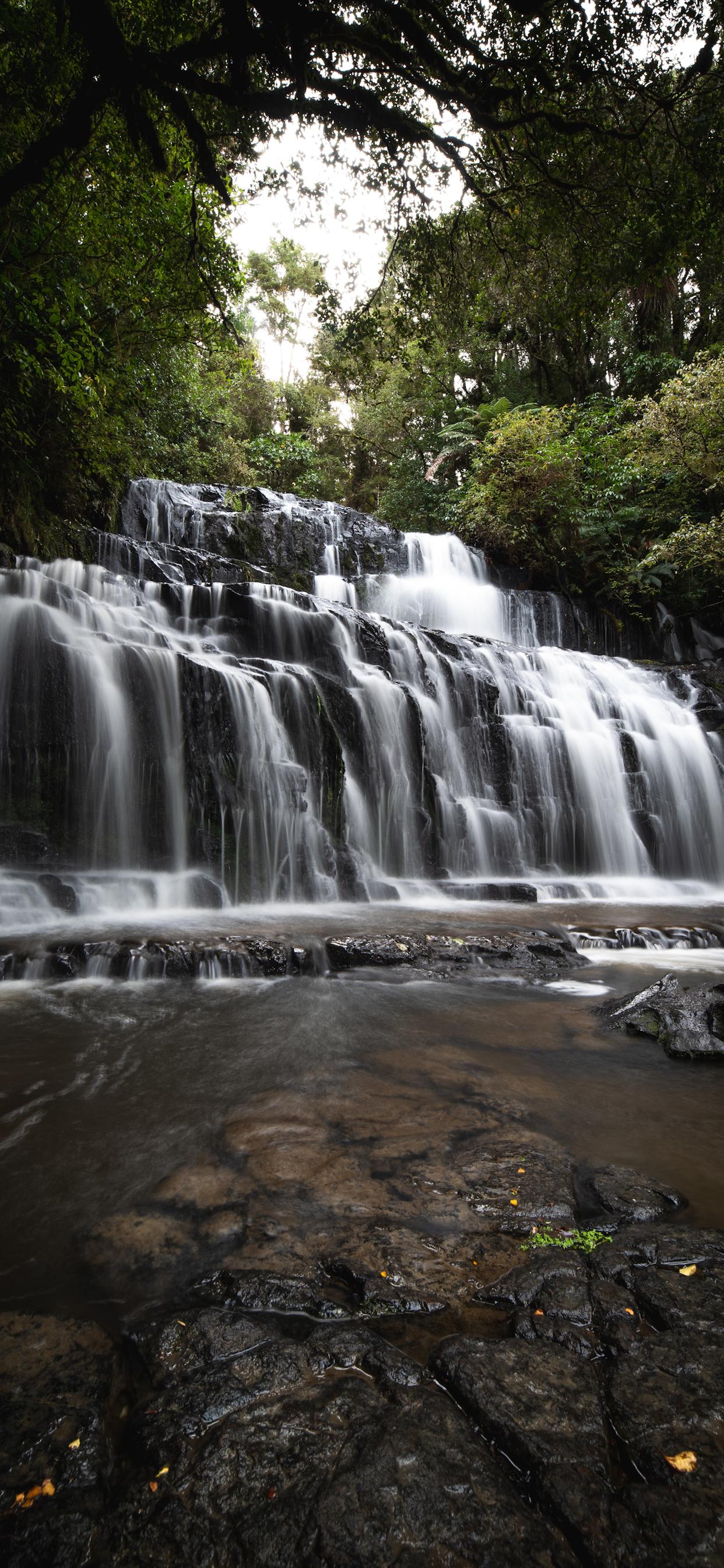 iPhone wallpapers waterfall purakaunui falls road Waterfall
