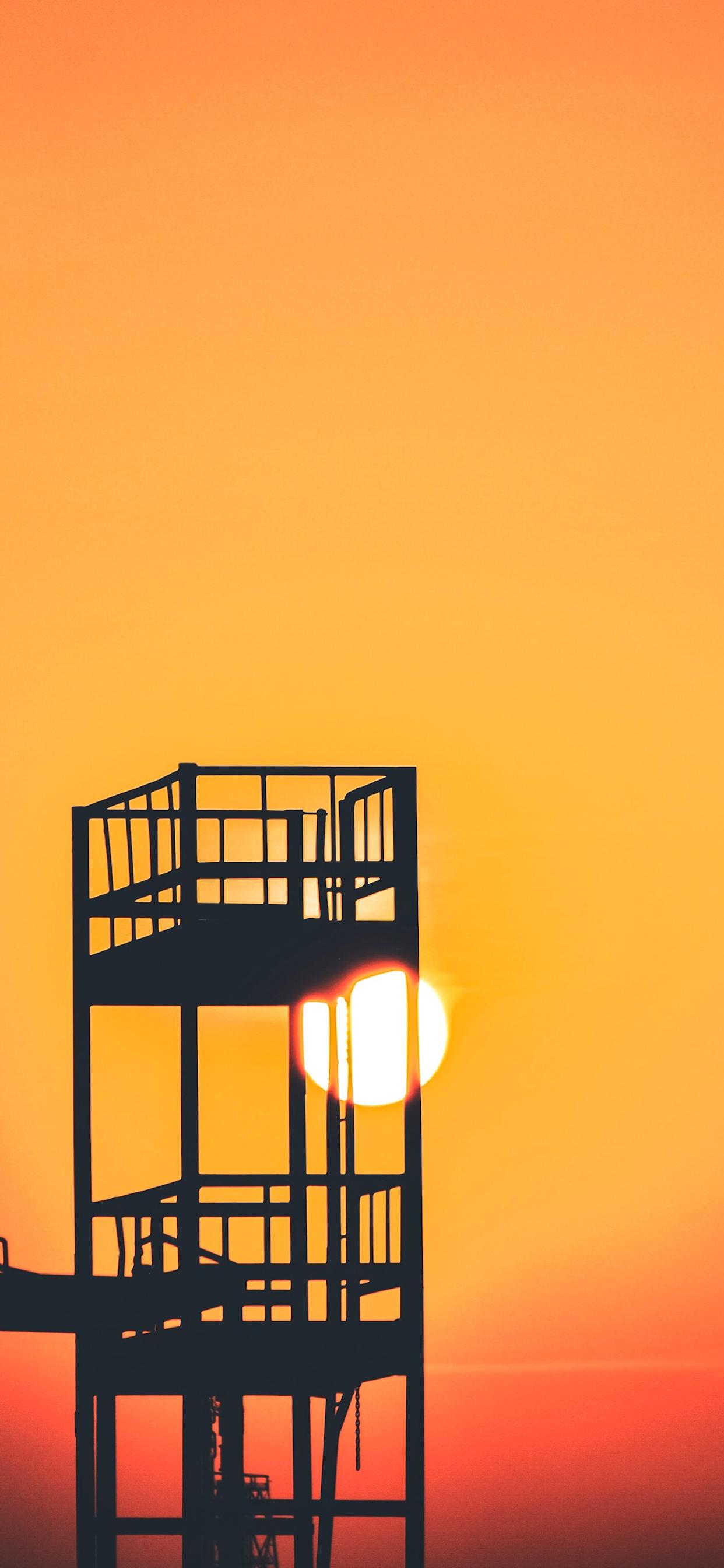 iPhone wallpaper gradient color watch tower Fonds d'écran iPhone du 15/01/2020