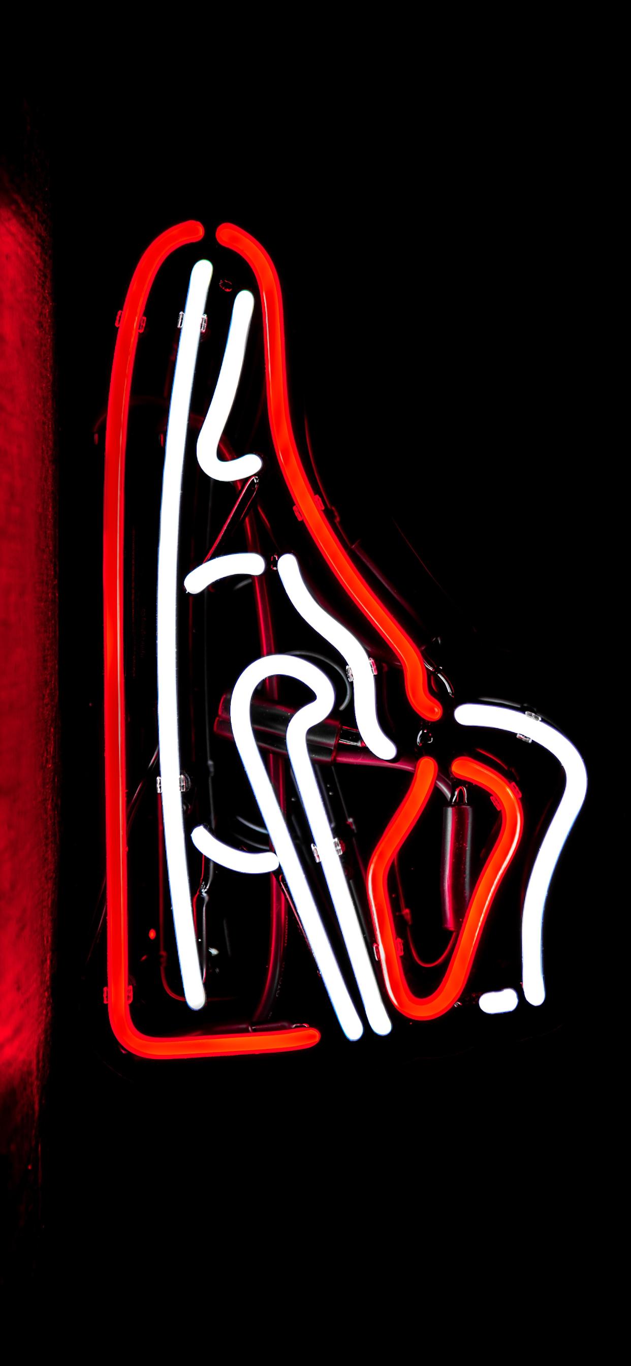 iPhone wallpapers neon sign jordan retro 1 Fonds d'écran iPhone du 29/01/2020