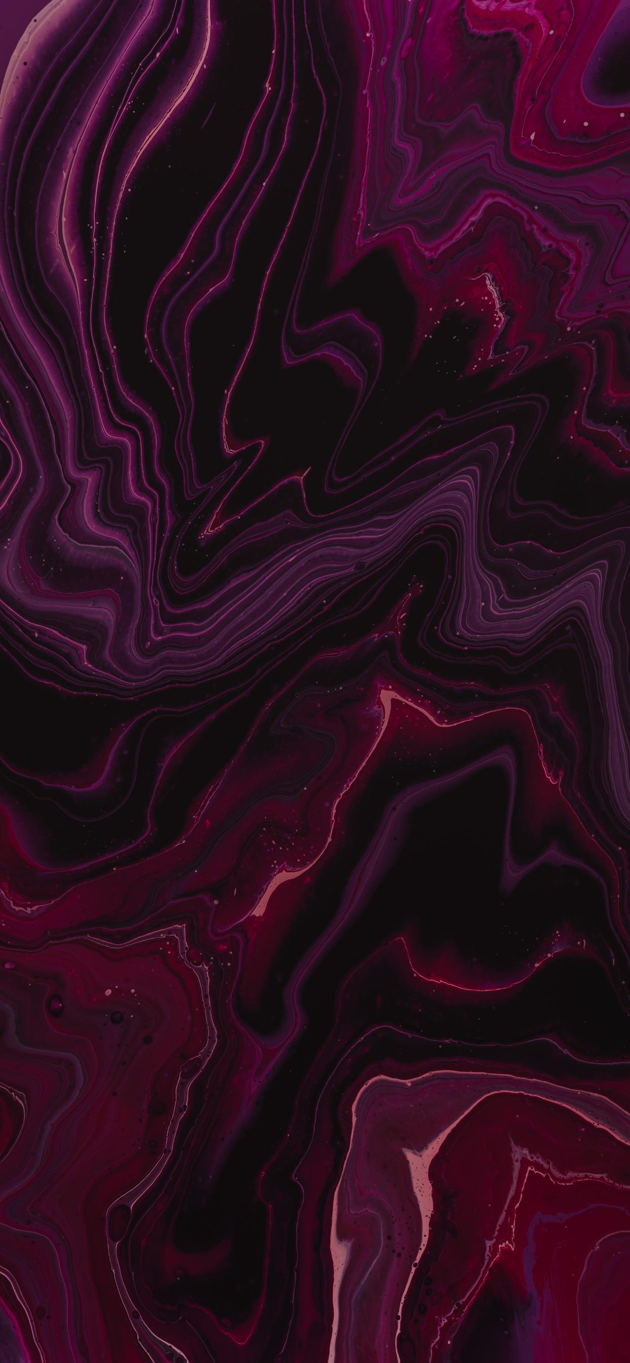 iPhone wallpapers liquid abstract pink black Fonds d'écran iPhone du 10/02/2020