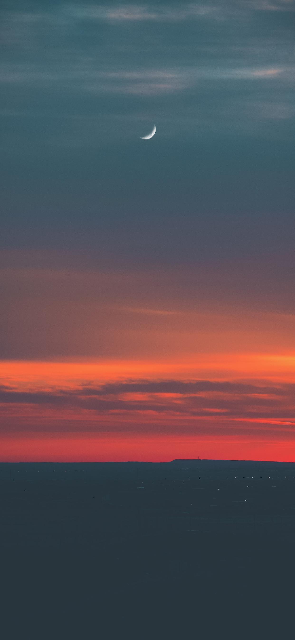 iPhone wallpapers moon sunset Fonds d'écran iPhone du 19/02/2020