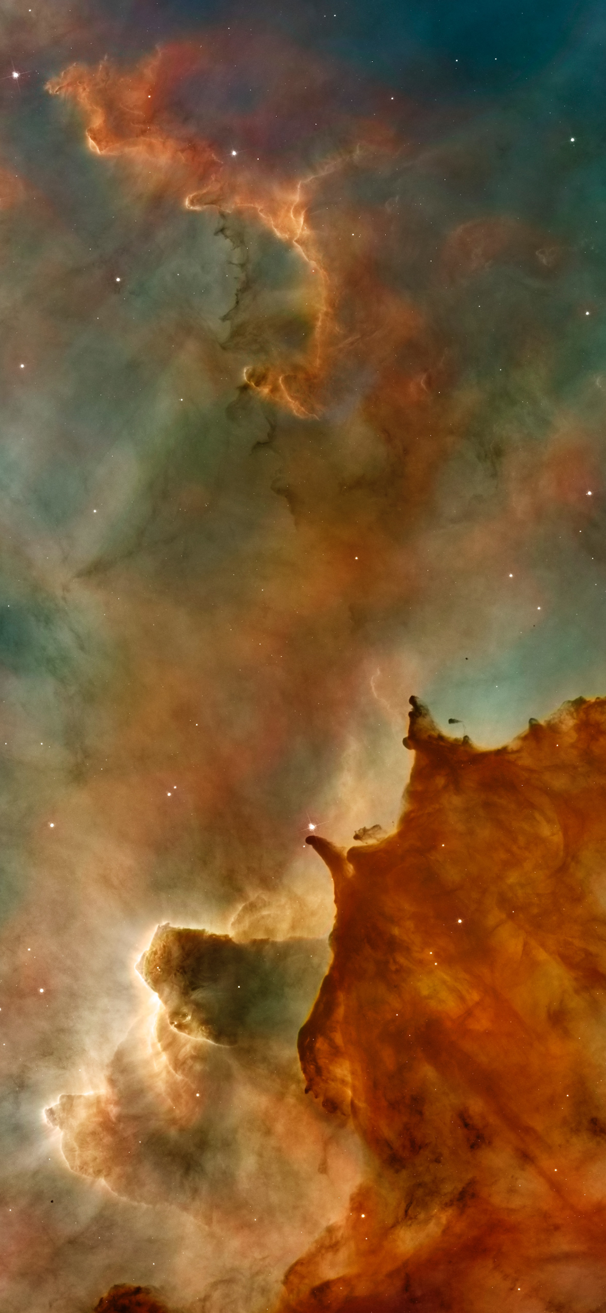 iPhone wallpapers space galaxy orange Space