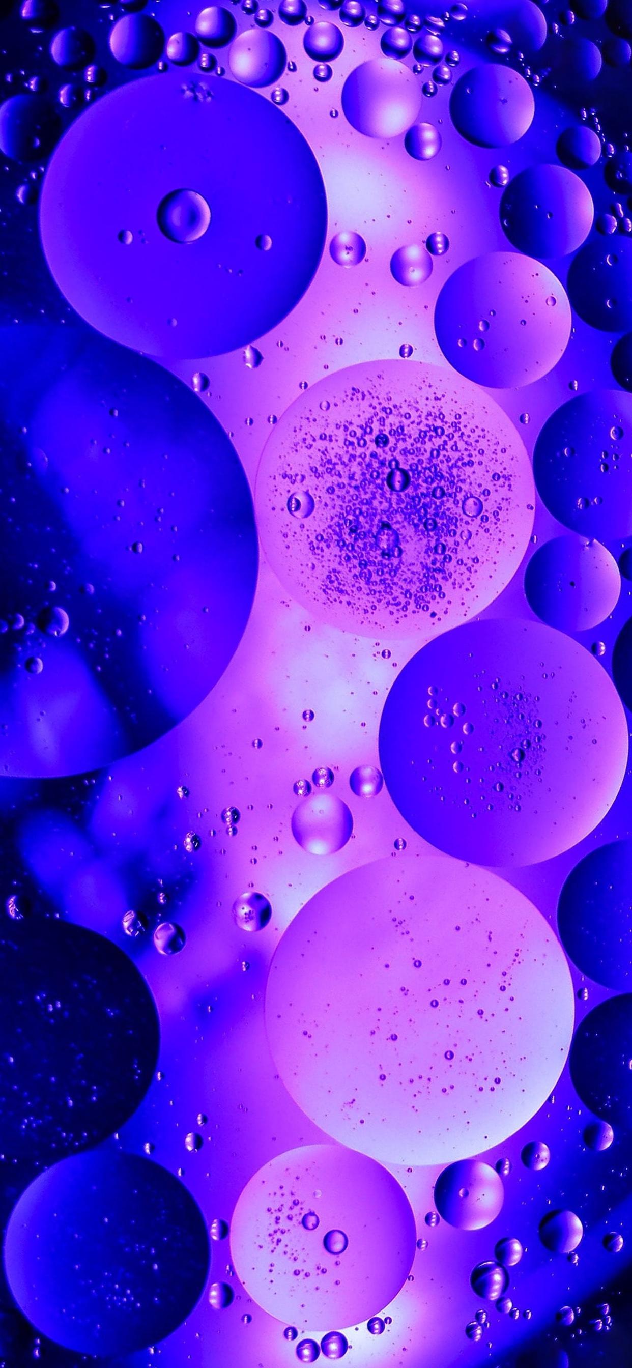 iPhone wallpapers abstract bubbles pink blue Fonds d'écran iPhone du 04/03/2020