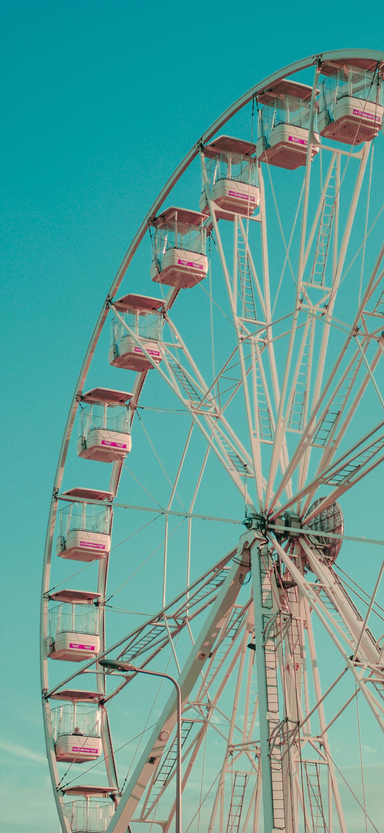 iPhone wallpapers ferris wheel white pink Ferris Wheel