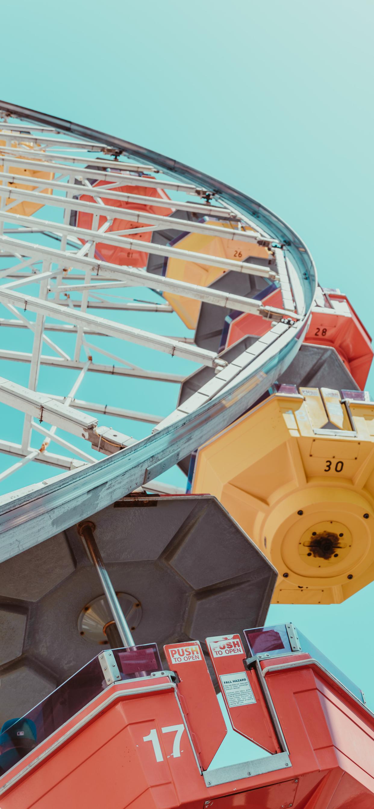 iPhone wallpapers ferris wheel yellow orange Ferris Wheel