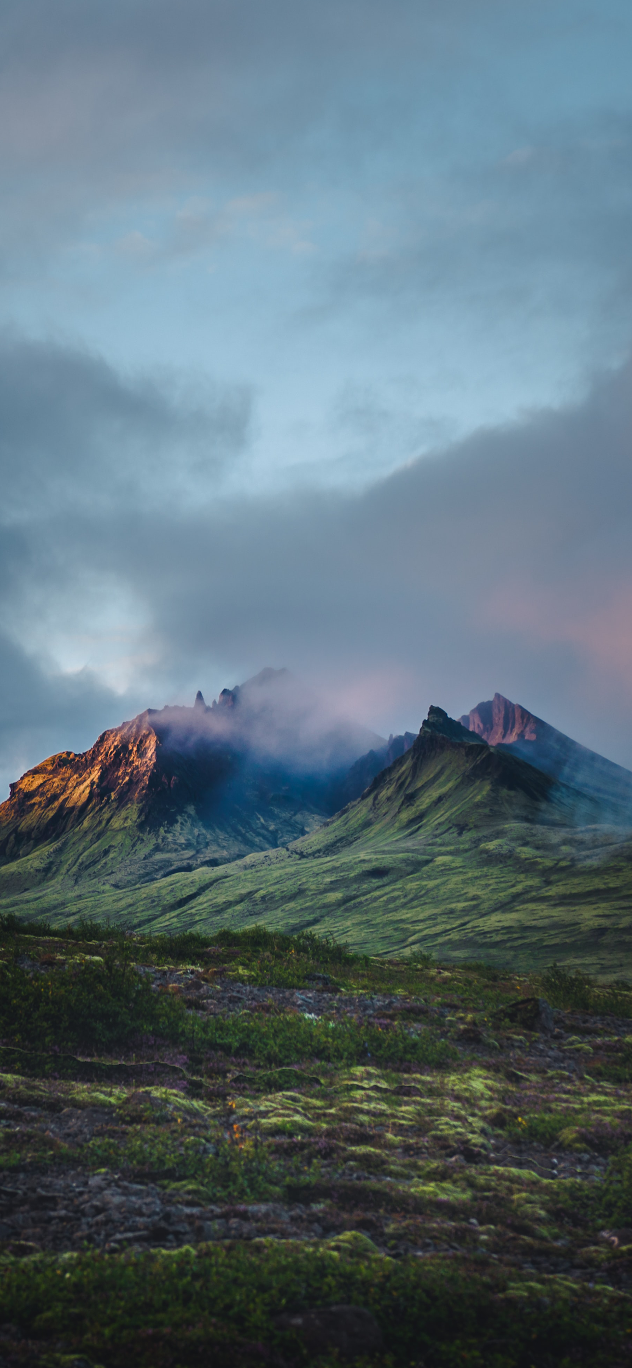 iPhone wallpapers iceland mountain cloudy Iceland