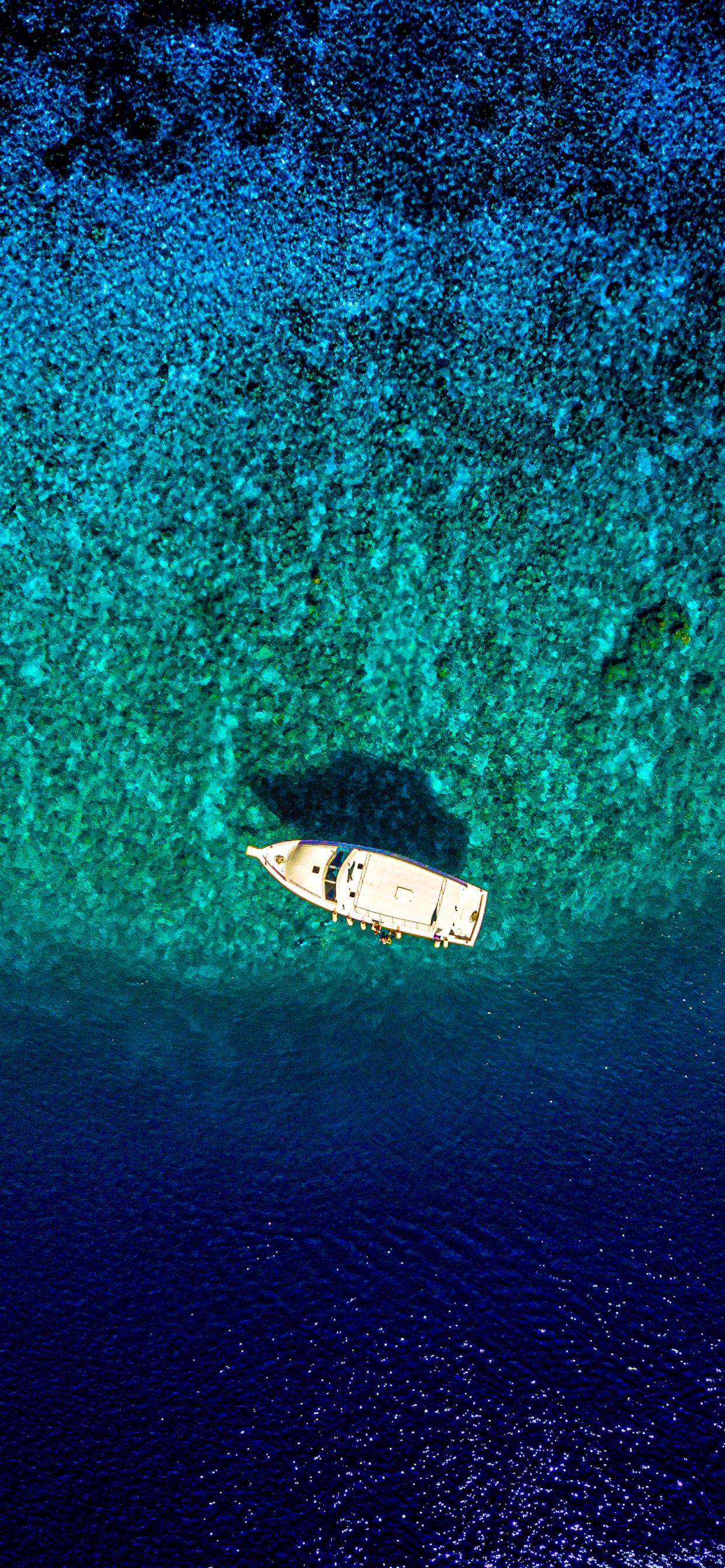 iPhone wallpapers maldives boat blue Maldives