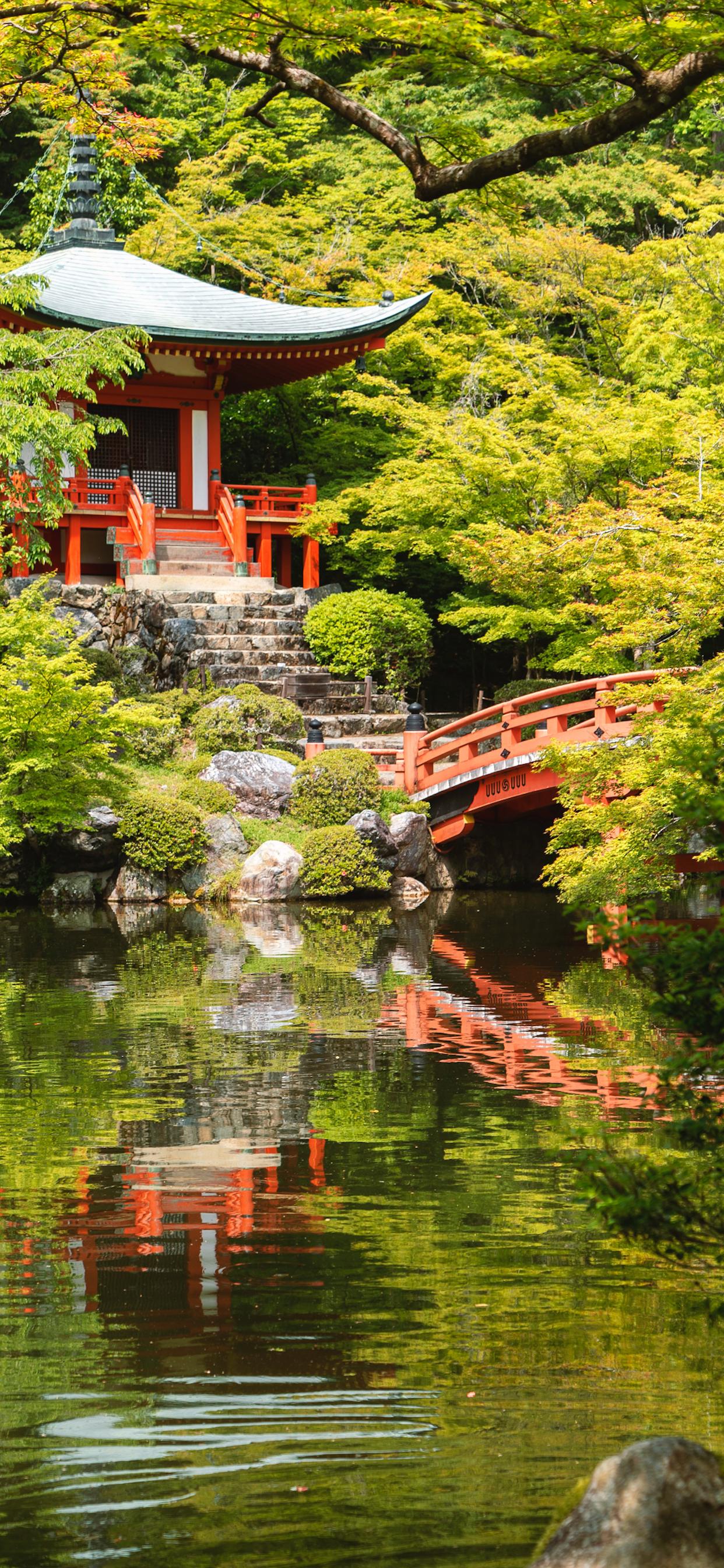 iPhone wallpapers temple daigo ji kyoto Temple