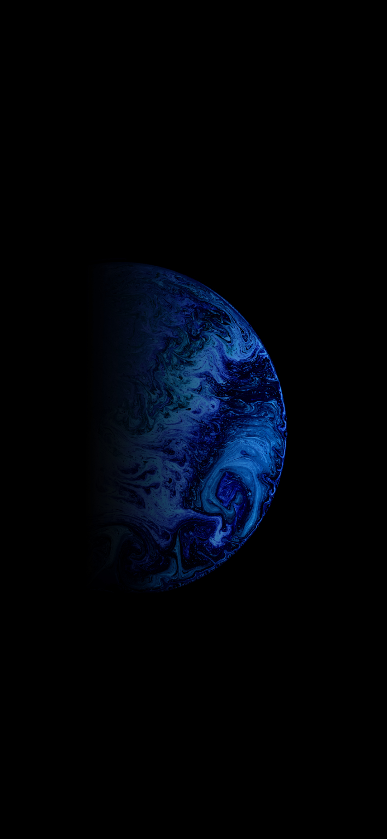 iPhone wallpapers liquid planet blue Fonds d'écran iPhone du 25/05/2020