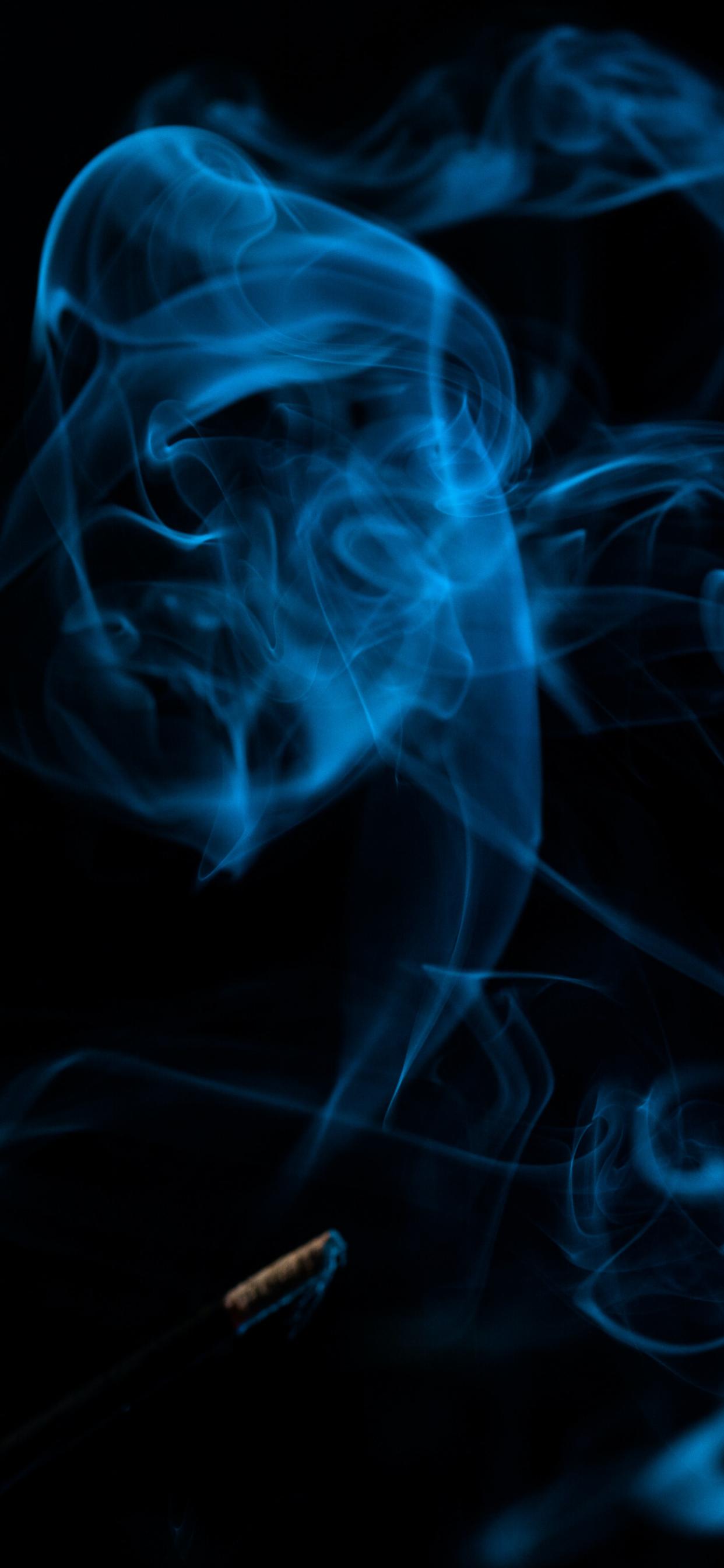iPhone wallpapers smoke blue black Fonds d'écran iPhone du 08/05/2020