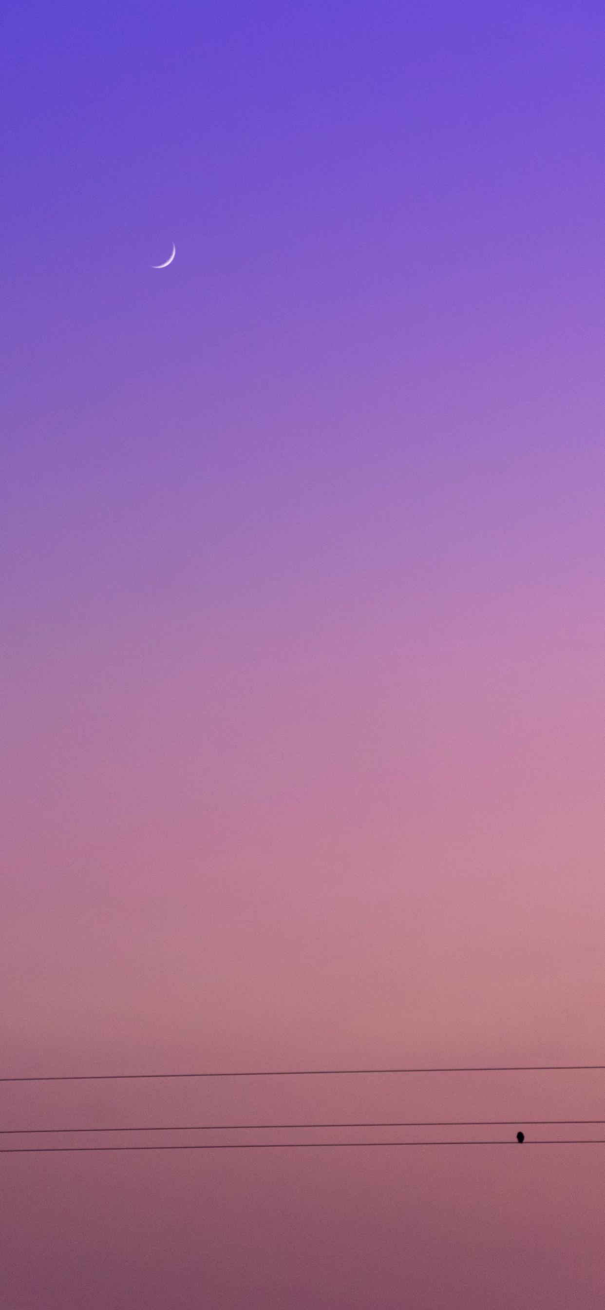 iPhone wallpapers moon purple sky Fonds d'écran iPhone du 05/06/2020